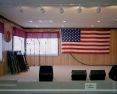 American Flag on Stage