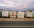 Abandoned RVs at Sunrise