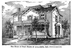 Bryan House (woodcut based on albumen print)