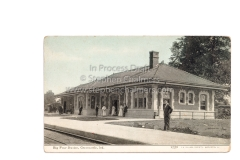 19th century postcard of Greencastle Train Station (where Bryan boarded to Cincinatti)