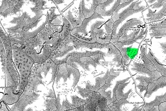 Location of Locke Farm on 19th century survey map